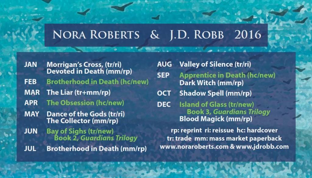 Neuerscheinungen Nora Roberts 2016